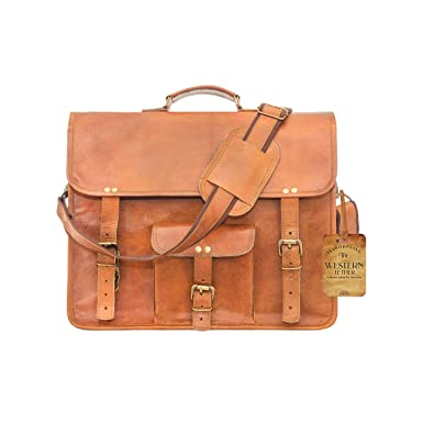 8c051718b5d1 Amazon.com  Western Handmade Leather Laptop iPad Messenger Bag for ...