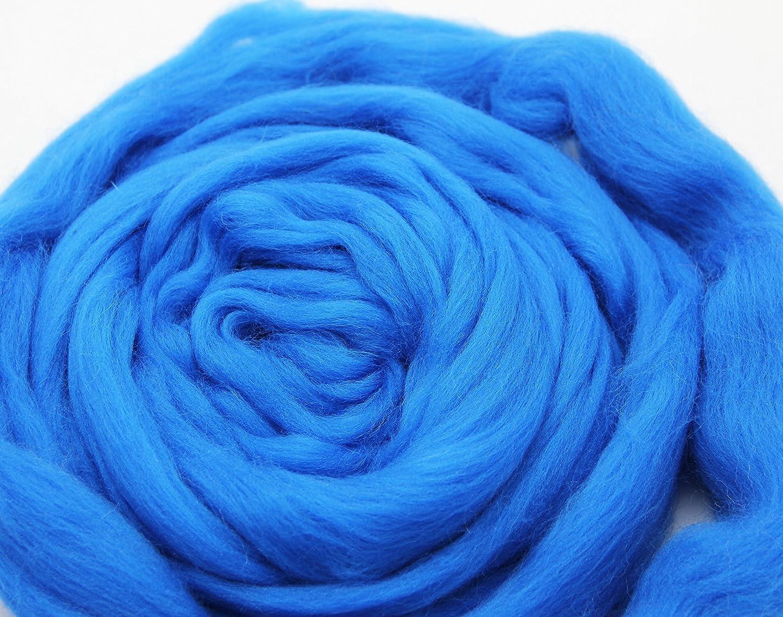 Needle Felting Wool Roving Top DIY Craft Materials for Loom Weaving Merino Tapestry 2.2Yards Yellow-3.5OZ