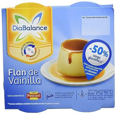 DiaBalance Flan Vainilla - 6 Paquetes de 4 x 100 gr - Total: 2.4 kg