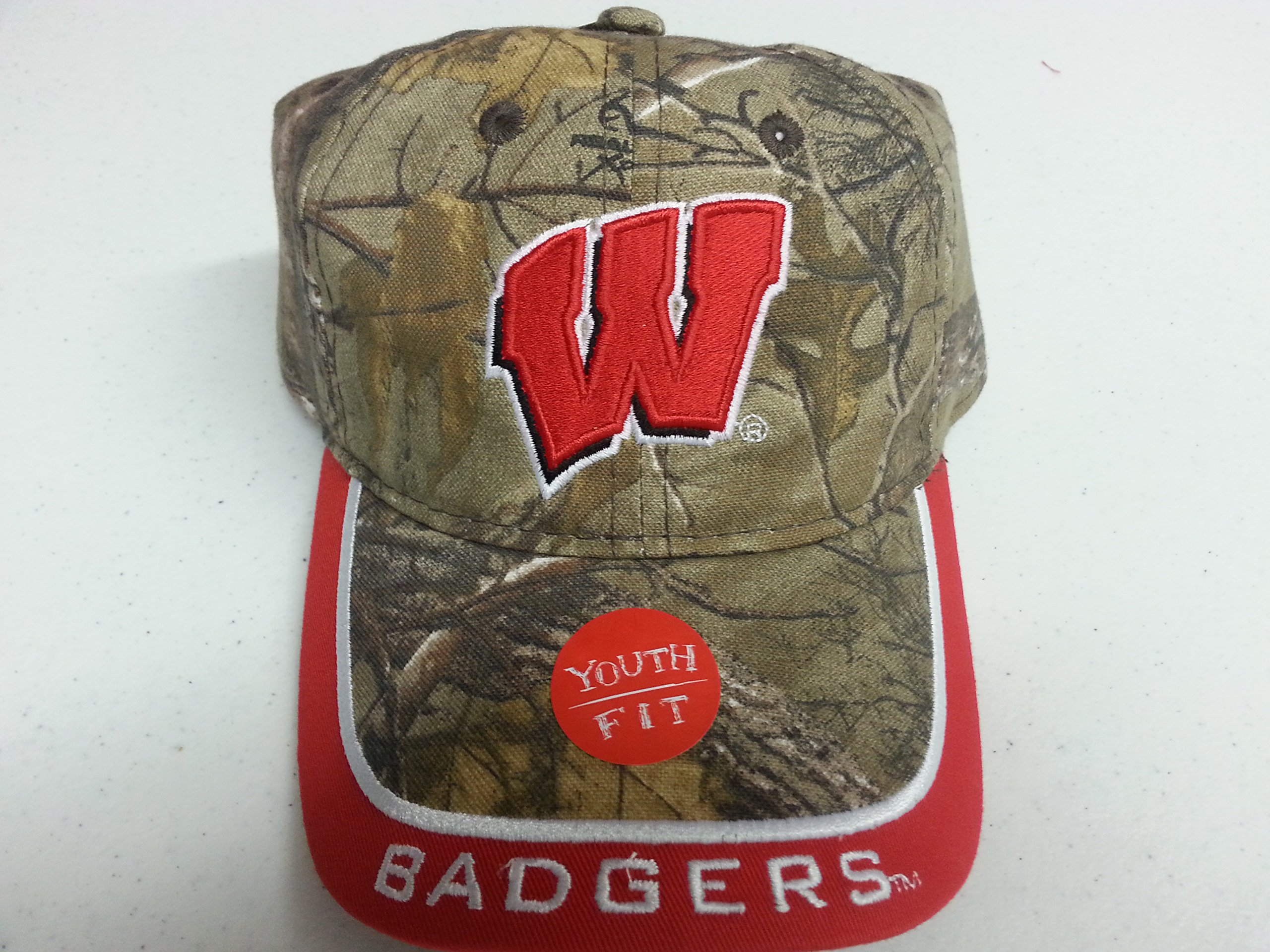 NCAA New Wisconsin Badgers Realtree Camo Youth Buckle Hat by NCAA