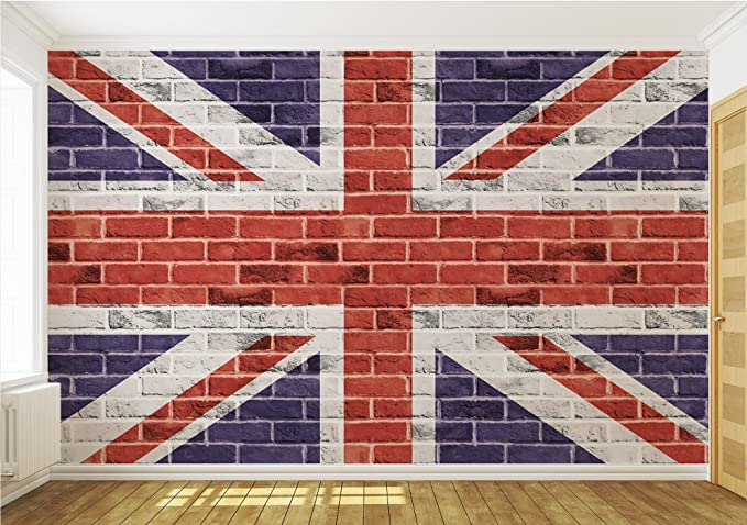 Great Britian Union Jack Graffiti brick wall sticker mural wall art 15194918