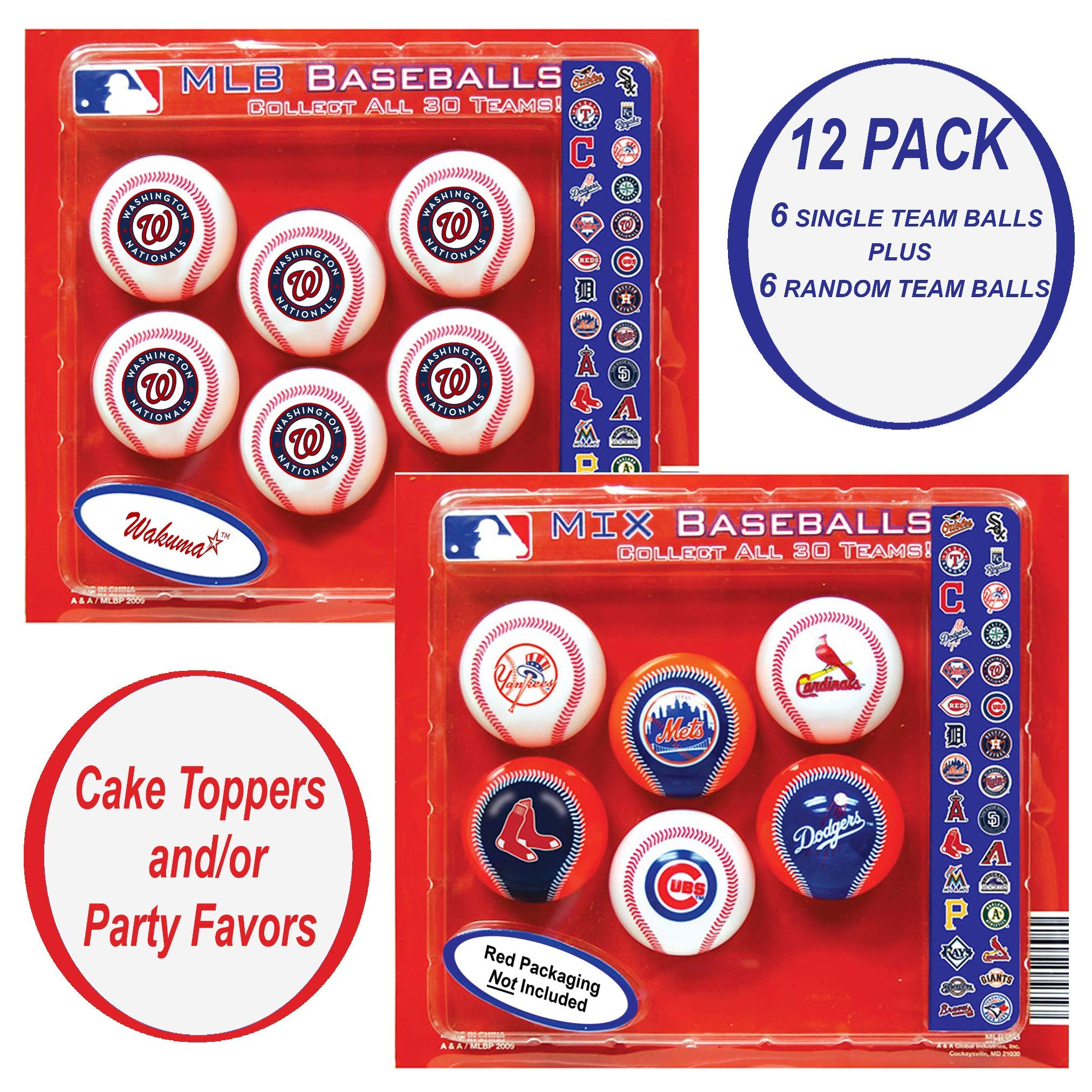 Washington Nationals Cake Topper. Baseball Birthday Cupcake Decorations & Party Favor Supplies by Wakuma