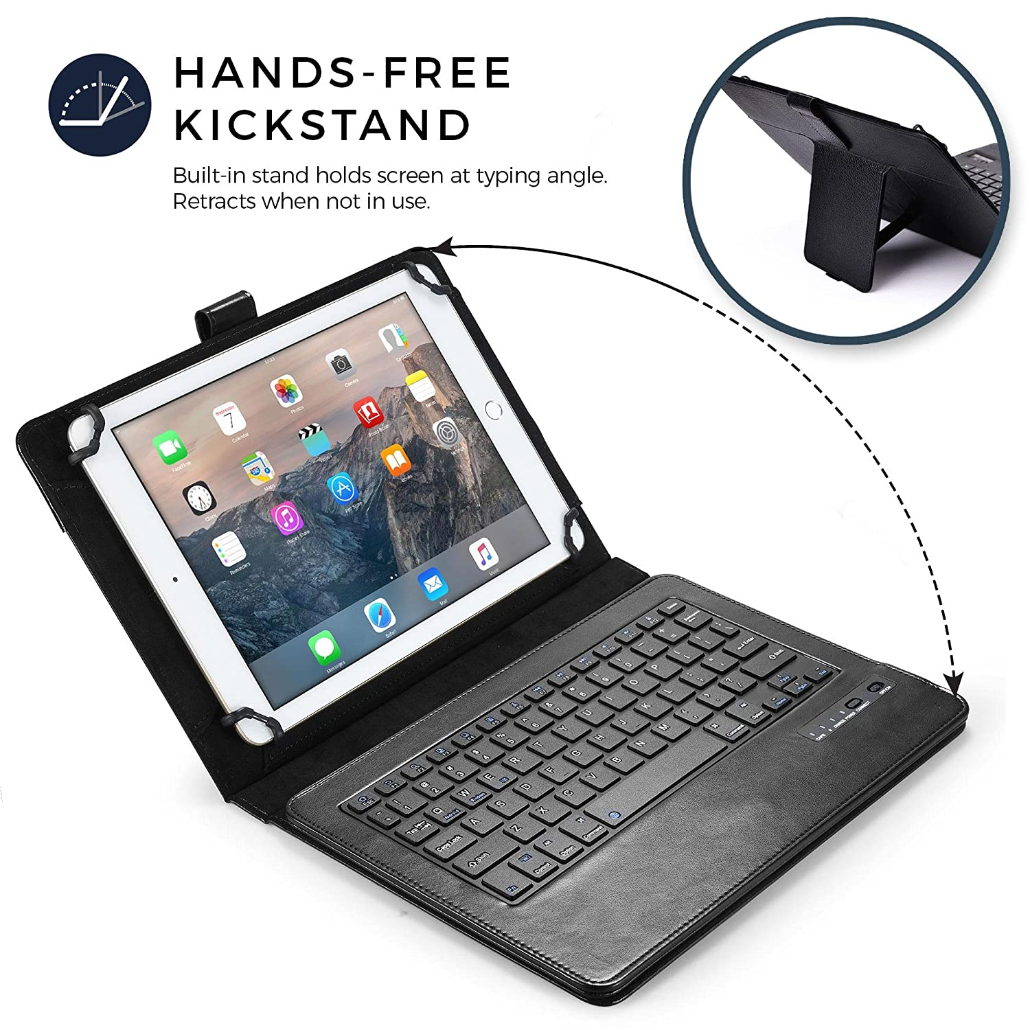 Amazon.com: COOPER INFINITE EXECUTIVE Keyboard case compatible with Samsung Galaxy Note Pro 12.2   2-in-1 Bluetooth Wireless Keyboard & Leather Folio Cover ...