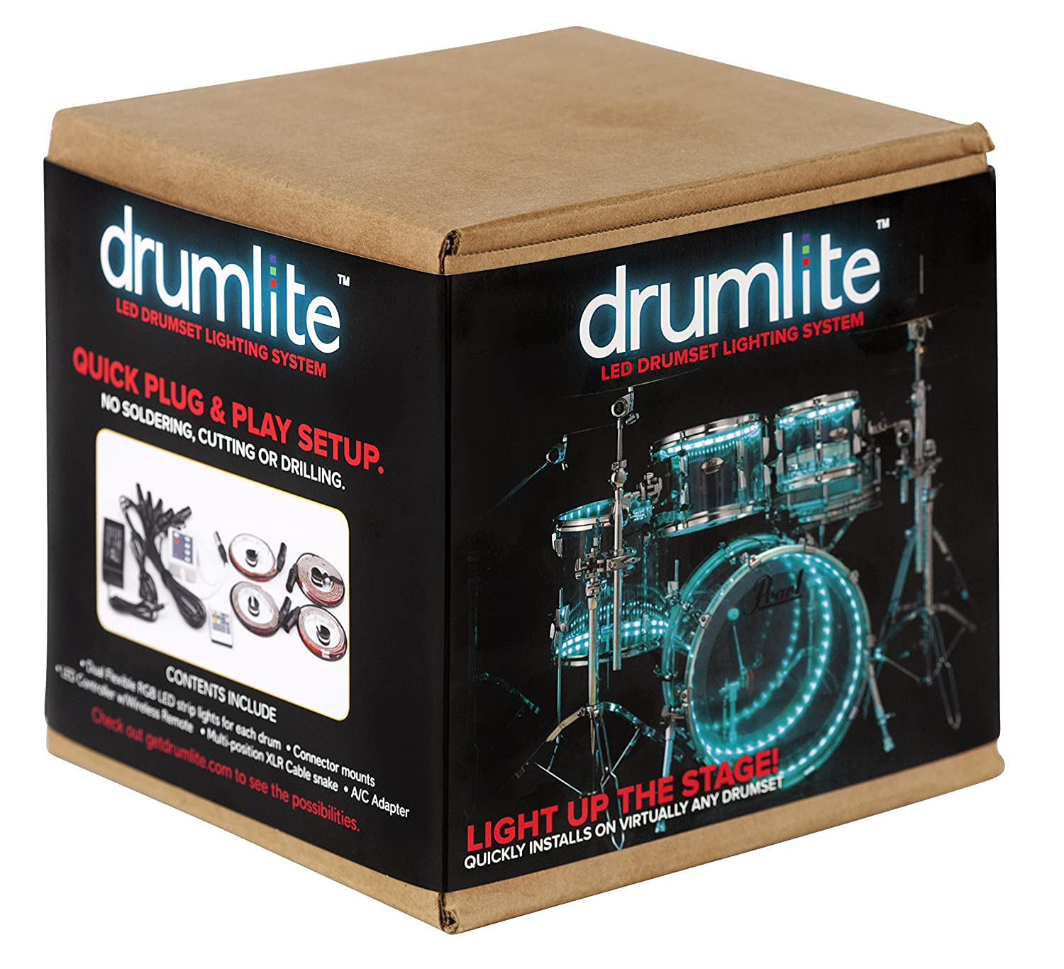 1487d01947ff Amazon.com  Drumlite DLK1D Dual LED Banded Lighting Kit for Drums  Musical  Instruments