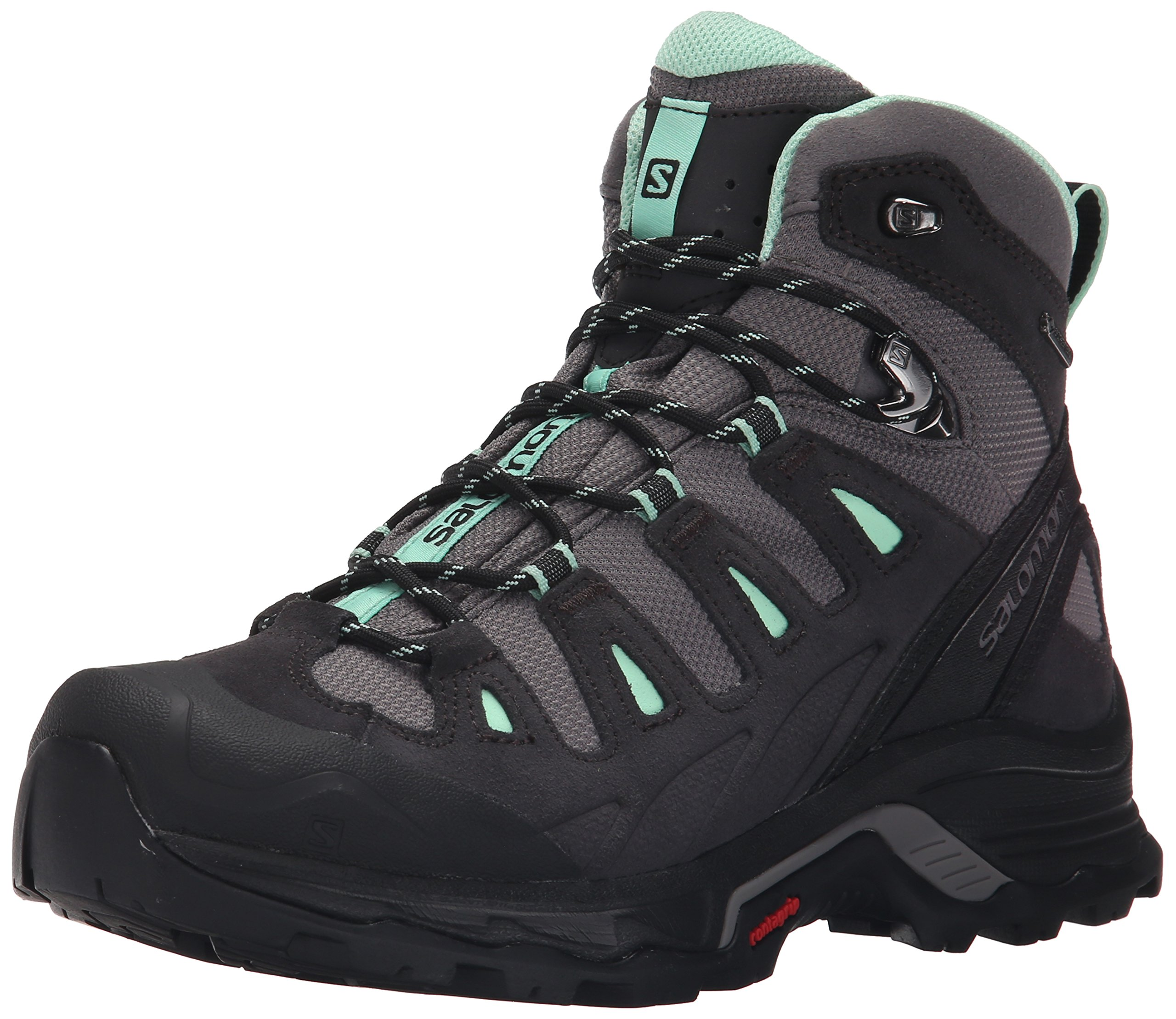 Salomon Women's Quest Prime Gtx W Backpacking Boot, Detroit/Asphalt/Lucite Green, 8 M US