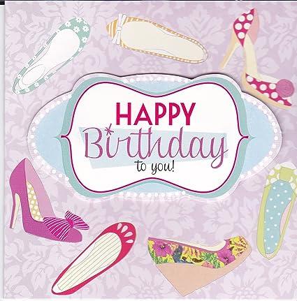 2 x tarjetas feliz cumpleaños 3d feliz cumpleaños zapatos ...