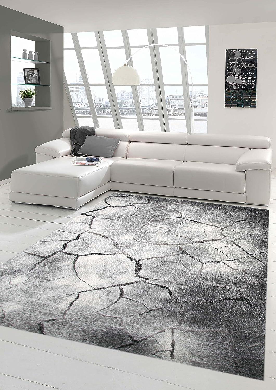 Traum Teppich Designerteppich Wohnzimmerteppich Moderner Teppich Steinoptik Wohnzimmerteppich Designerteppich Öko-Tex in Grau Schwarz, Größe 200x290 cm 0fd5cf