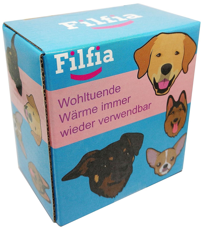 chauffe-mains Lot de 4 x Motif chien R/éutilisable