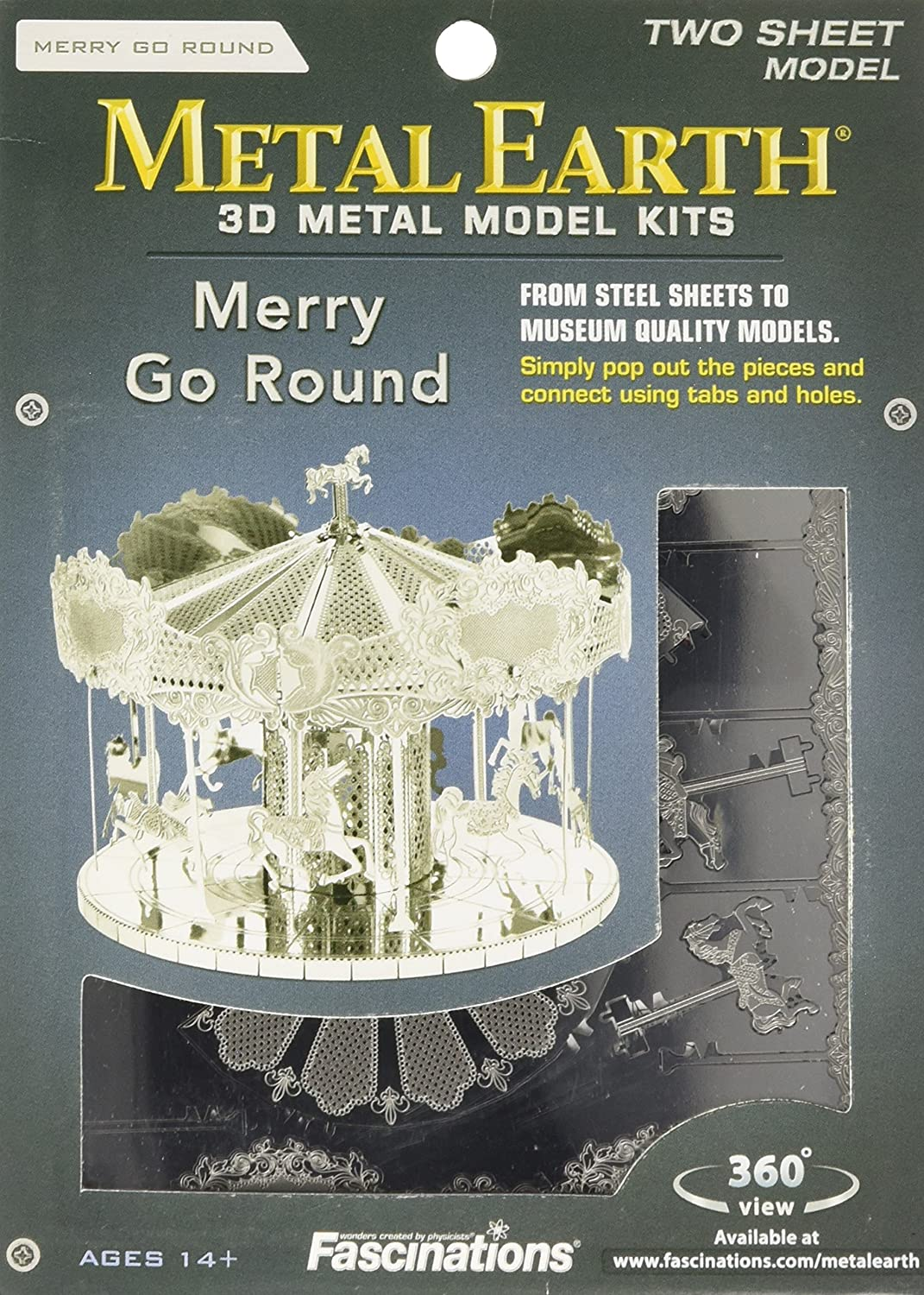 Fascinations Metal Earth 3D Laser Cut Model - Merry Go Round 91xwlAlPOOL
