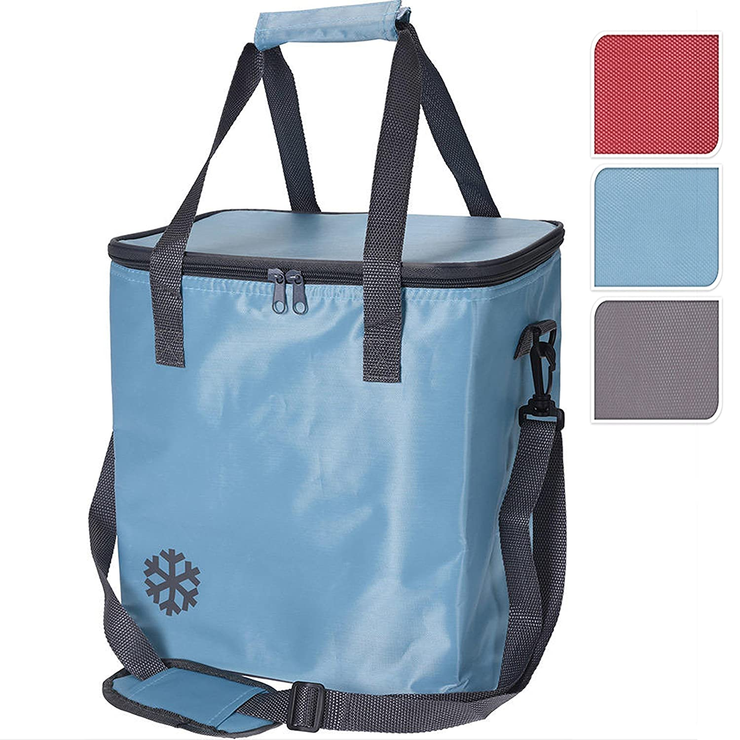 GEEZY 24 Ltr Insulated Compact Handy Cool Bag Camping Picnic Cooler Box Lunch