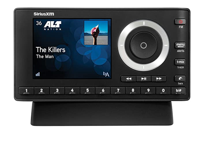 SiriusXM SXPL1H1 Onyx Plus Satellite Radio with Home Kit with Free 3 Months Satellite and Streaming Service( Activation fee)