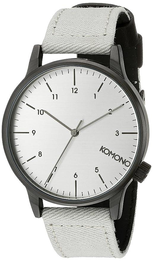 Komono KOM-W2120 - Reloj de pulsera hombre, Poliuretano, color Gris