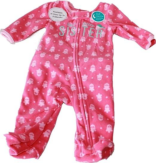 Child of Mine by Carters Newborn Baby Girl Microfleece Sleep N Play