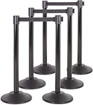 US Weight Heavy Duty Premium Steel Stanchion with 7.5-Foot Retractable Belt and Scratch-Resistant Base (More Colors Available