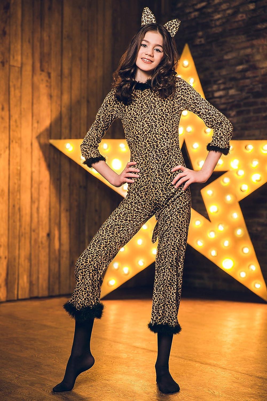 1ace34c1747e Amazon.com  Girls  Saucy Leopard Cheetah Cat Cougar Kitty Dress Up ...