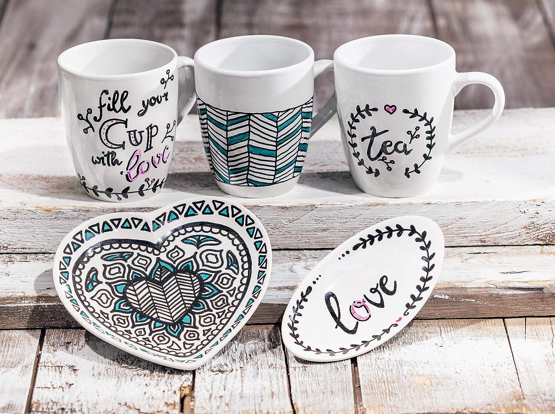 Hobbyfun Keramik-Seifenschale oval 1 Deko-Schale Ablageschlae