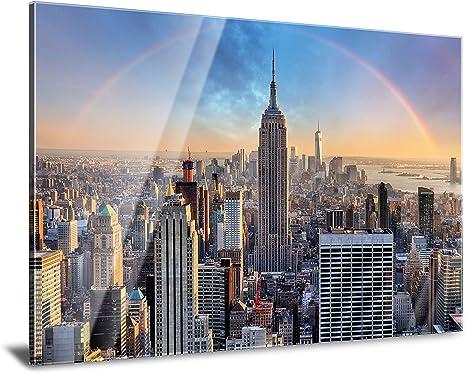 Pmp 4life Xxl Acrylglasbild Fur Ihr Zuhause Wanddeko Fur Das Wohnzimmer Schlafzimmer Kuche Usw Acrylglas 120cm X 85cm Newyork Skyline Amazon De Kuche Haushalt
