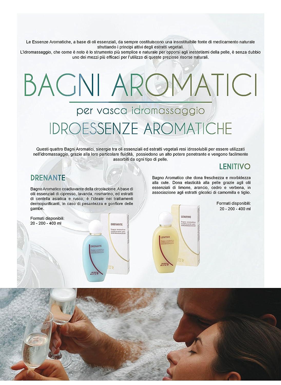 Fragancia Aromatica Drenante 200 ml + Dosificador + thalassocosmesi (monodosis)-Perfumes A Base Aceites Esenciales Para Bañera hidromasaje Teuco, Albatros, ...