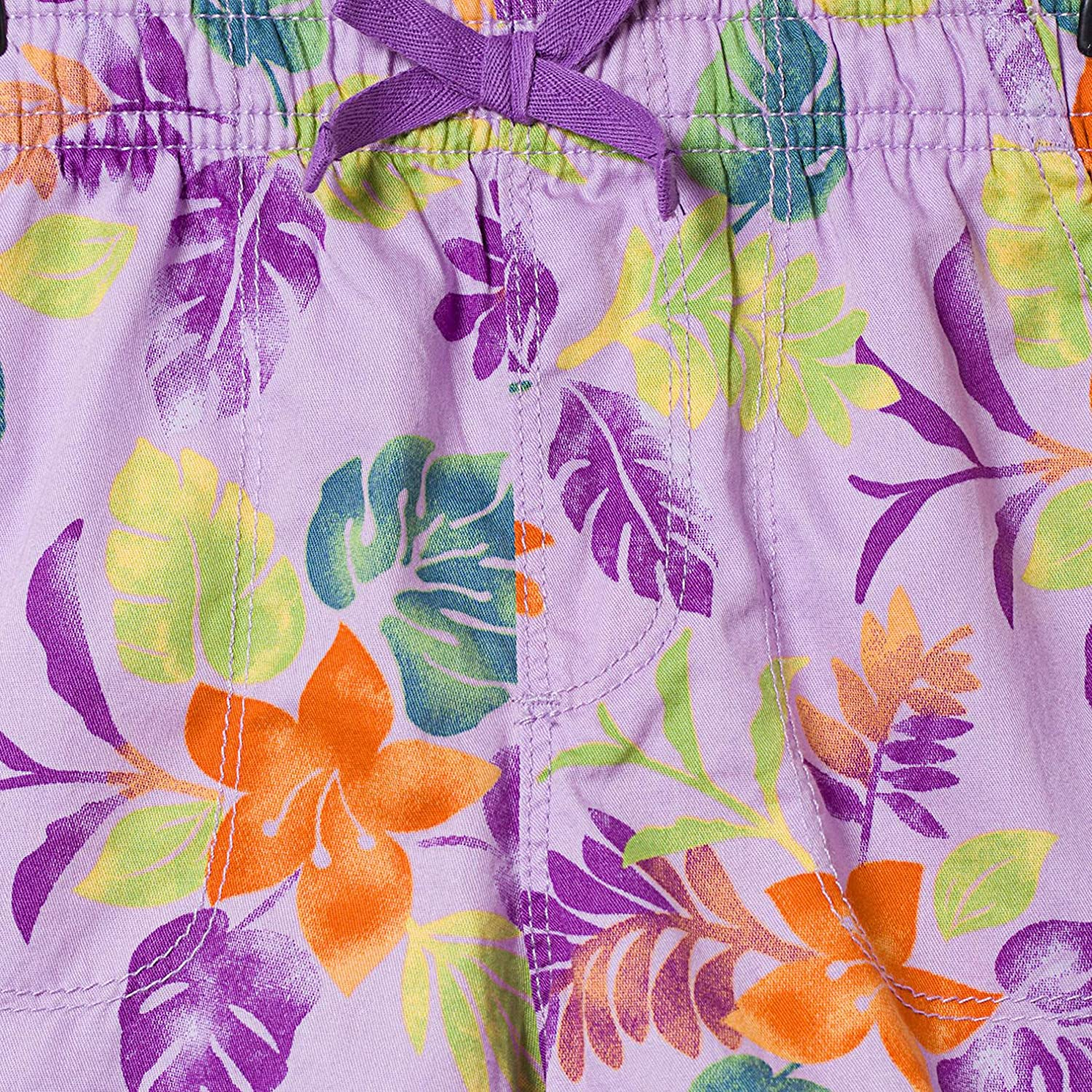 16,Purple bossini Delight Girls Tropical Print Twill Shorts US Size 3t