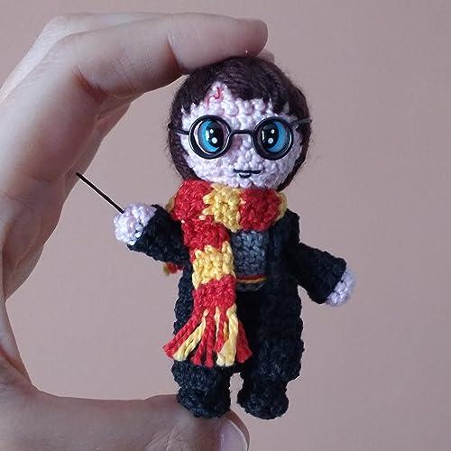 Harry Potter, Amigurumi de Ganchillo Hecho a Mano, Muñeco de Peluche, Regalo,
