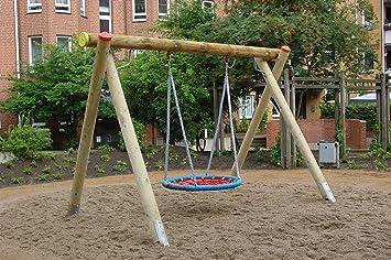 Columpio para jardín madera Balancín Niños, estructura DIN EN 1176 + TÜV/GS: Amazon.es: Juguetes y juegos