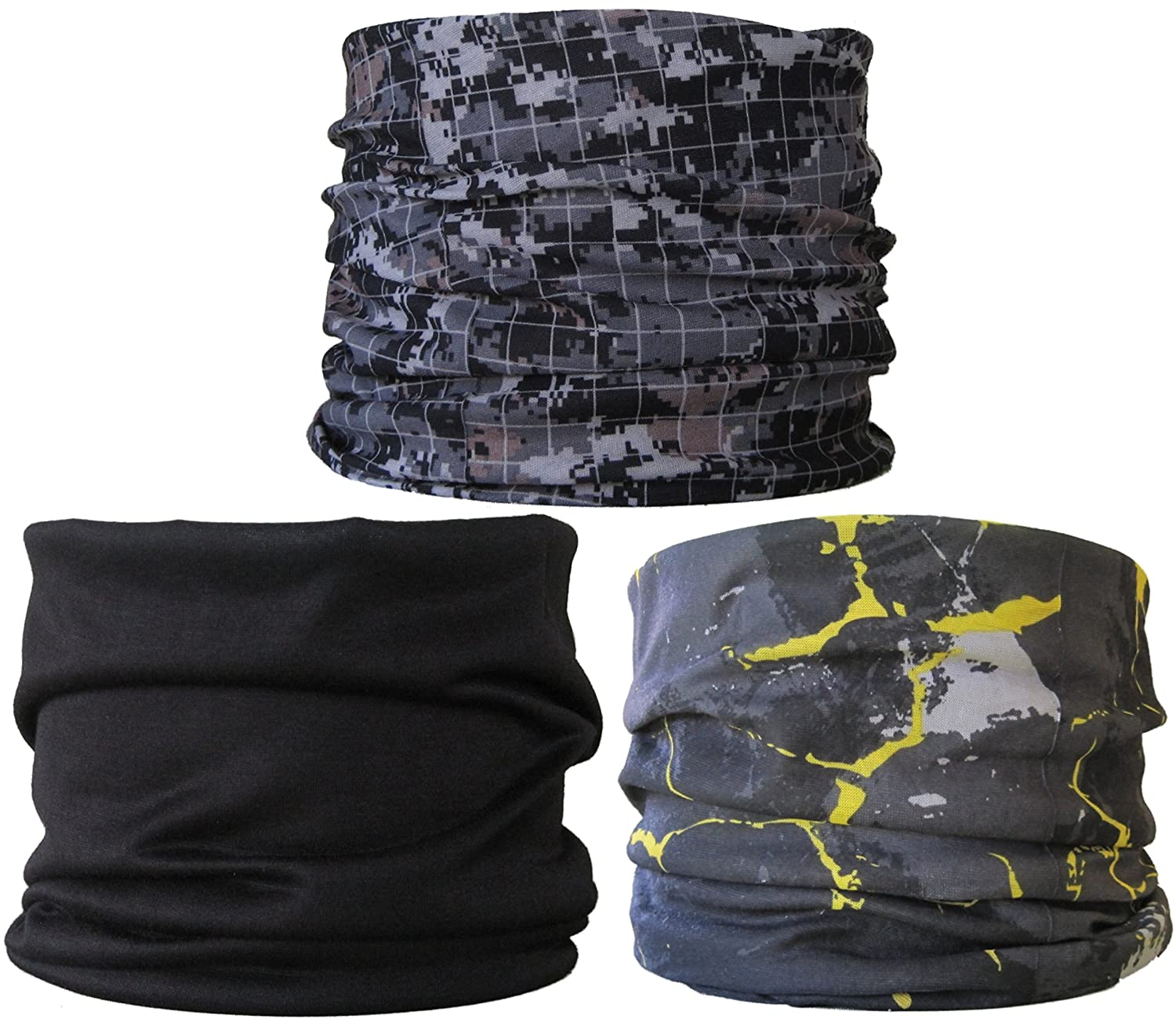(3 Pack) Multifunctional Headwear. Neck Tubes (Ref R3).