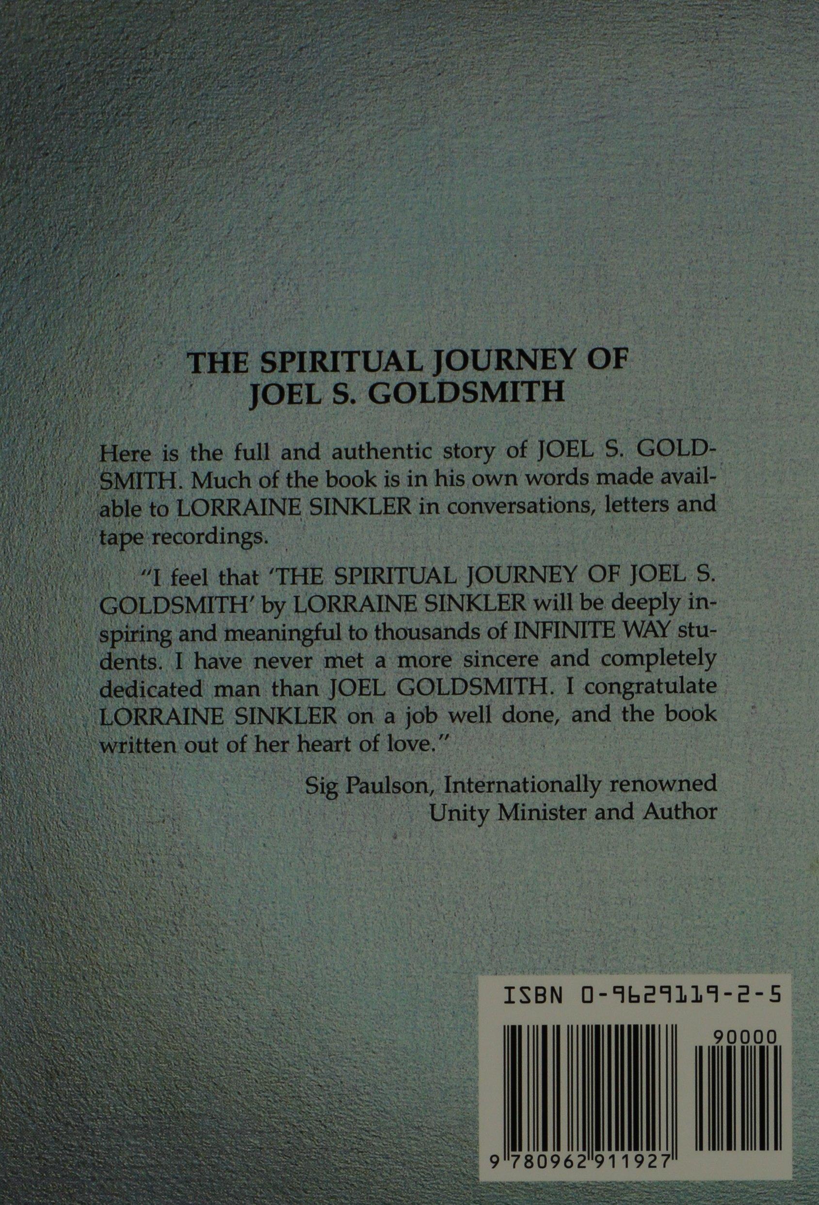 The spiritual journey of joel s goldsmith lorraine sinkler 9780962911927 amazon com books