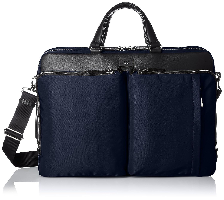[タケオキクチ] ビジネスバッグ ダブルファスナー カーゴ 750502 B01MZ2ALBRネイビー