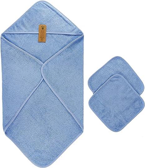 Capa de Baño de Bebé, 100% Algodón orgánico, (75x75 cm) y 2 ...