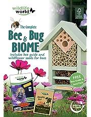 Wildlife World Coffret Biome Abeilles et Insectes avec Guide et Sachet Graines