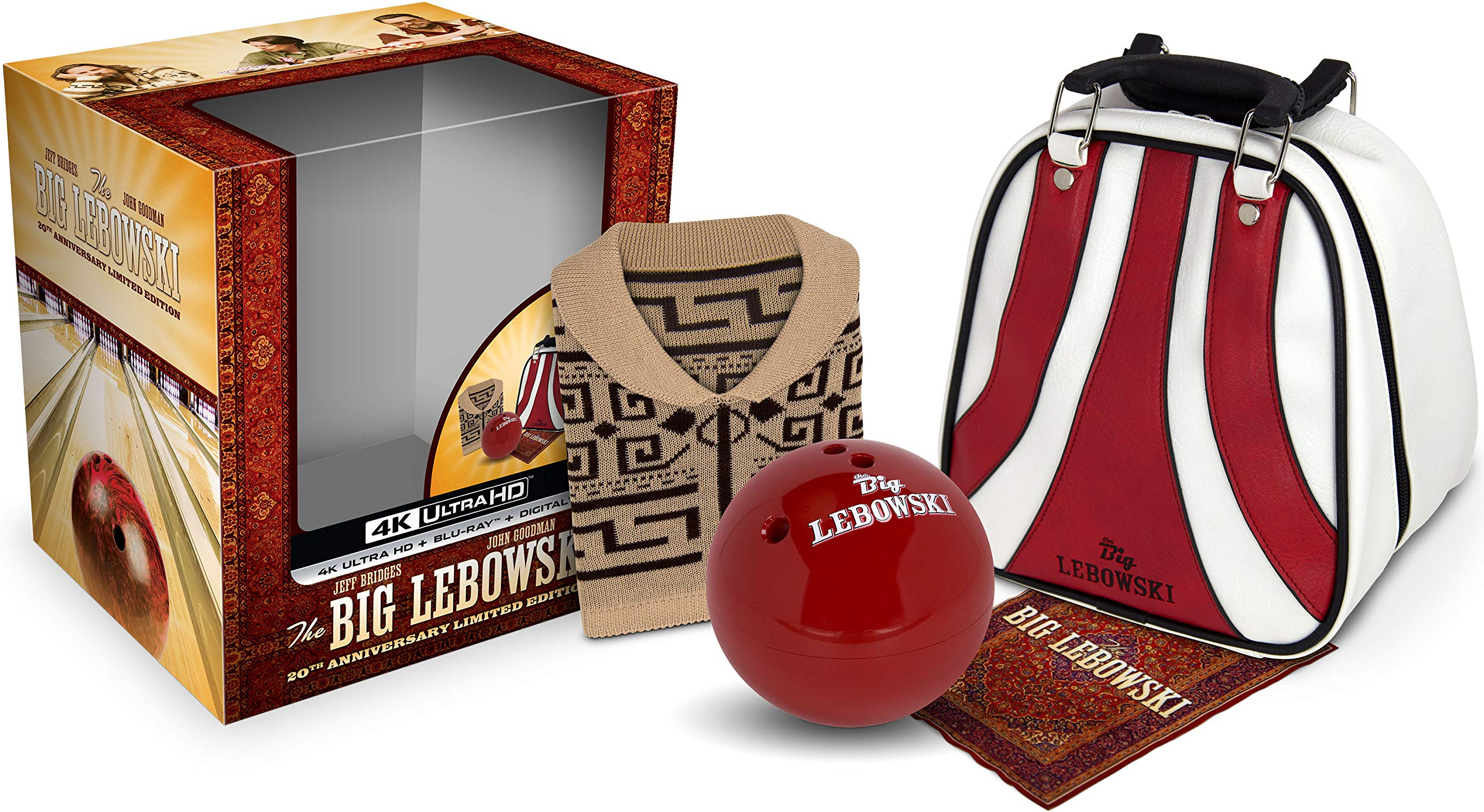 4K Blu-ray : The Big Lebowski: 20th Anniversary Edition (With Blu-ray, Limited Edition, 4K Mastering, Anniversary Edition, Gift Set)