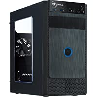 ROSEWILL Micro ATX Mini Tower Computer Case, Black Steel and plastic computer case with 1x 120mm front fan and 1x 80mm rear fan, Front I/O and 2x USB 3.0 with transparent side panel ( FBM-X1)