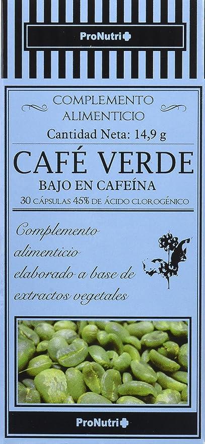 ProNutri Café Verde sin Cafeína - 2 Paquetes de 30 Cápsulas