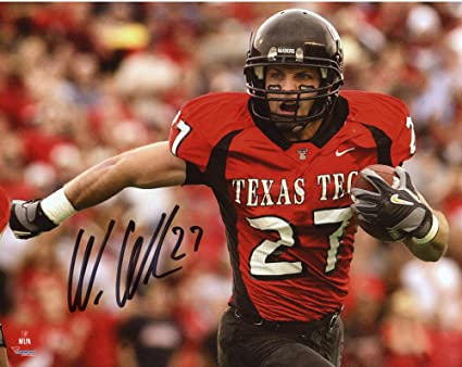 Wes Welker Texas Tech Red Raiders Autographed 8