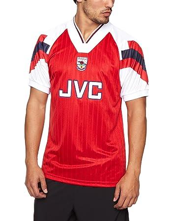 b06ed7a1e Score Draw Official Retro Arsenal 1994 Men s Retro Football Shirt - Red