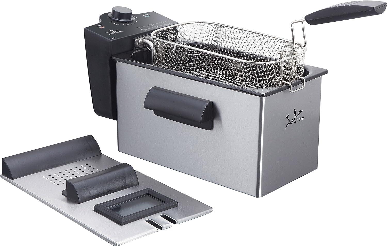 Jata FR679 Freidora de 3, 5 litros de Capacidad y Sistema Cool Zone, Anti Mezcla de sabores, Acero, Gris y Negro, 42: Amazon.es