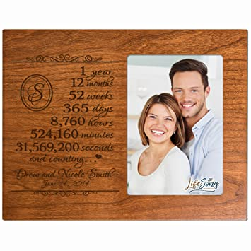 Amazoncom Personalized One Year Anniversary Gift For Her Him
