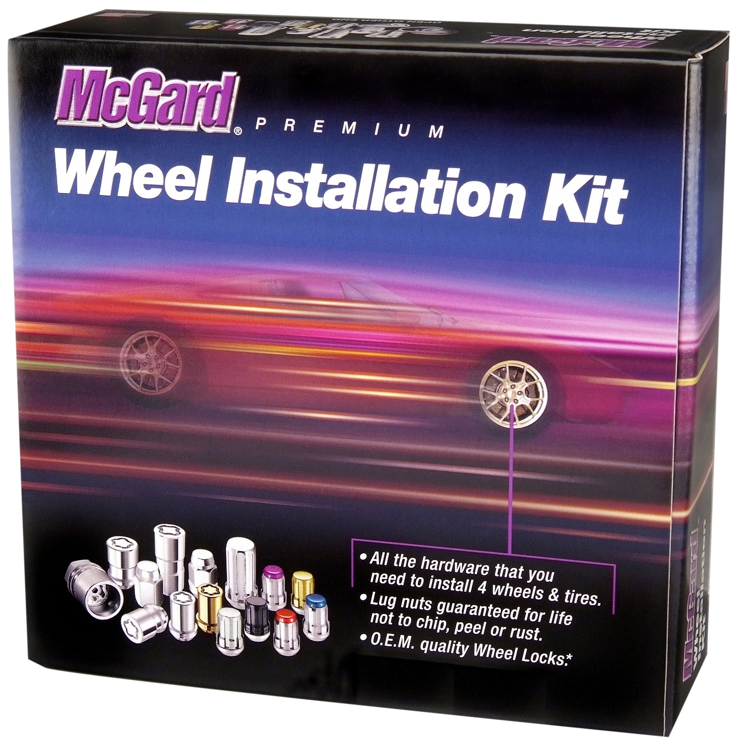 McGard 84527 Chrome/Black Cone Seat Wheel Installation Kit