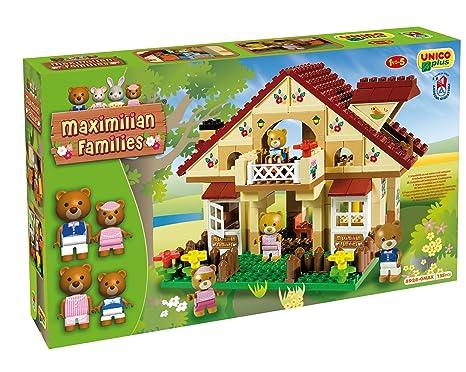 unico plus costruzioni  COSTRUZIONE Unico Maximilian Families-Chalet Orsetti 155pz 8928 ...