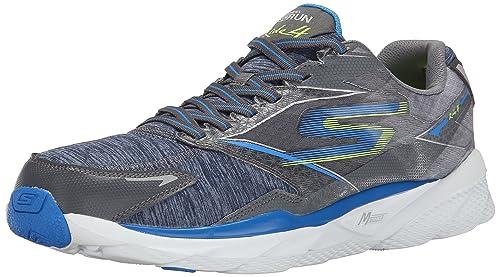Skechersgo Run Ride 4 Excess - Zapatillas de Running Hombre, Color Gris, Talla 42: Amazon.es: Zapatos y complementos
