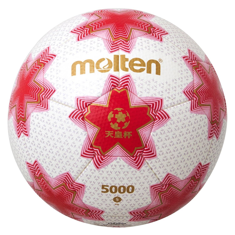 molten(モルテン) サッカーボール 天皇杯試合球 5号 ホワイト×ピンク F5E5000 B010XULBMM