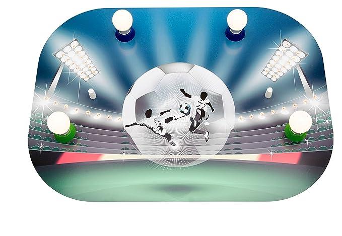 Plafoniere A Led Blu : Elobra plafoniera calcio soccer fight arena con led legno verde