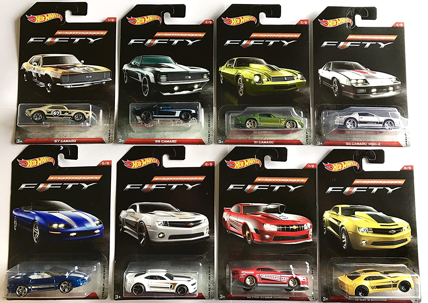 Hot Wheels Camaro Fifty 1967 2017 Exclusive 8 Car Set
