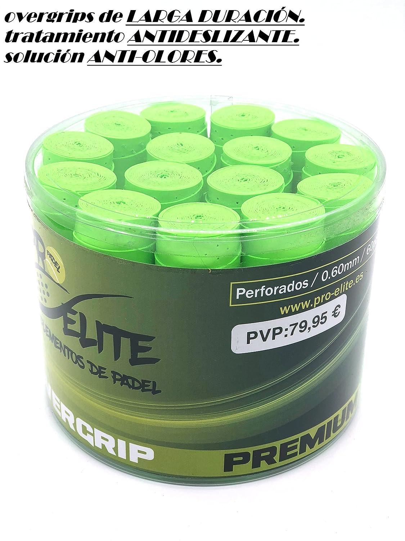 overgrips Pro Elite Premium Perforados Verdes Flúor. Bote de 60 unds.: Amazon.es: Deportes y aire libre