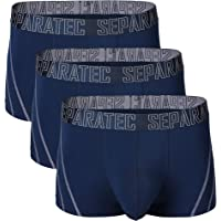 Separatec Men's 3 Pack Bamboo Rayon Soft and Breathable Pouch Underwear Trunks