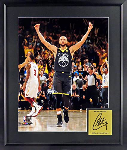 Golden State Warriors Stephen Curry quot 2018 NBA CHAMP quot  16x20  Photograph (SGA Signature Engraved d10d736e5