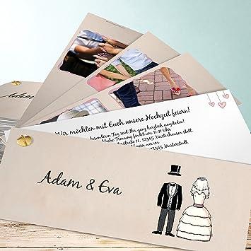 Ausgefallene Hochzeitseinladungen Sie Und Er 200 Karten