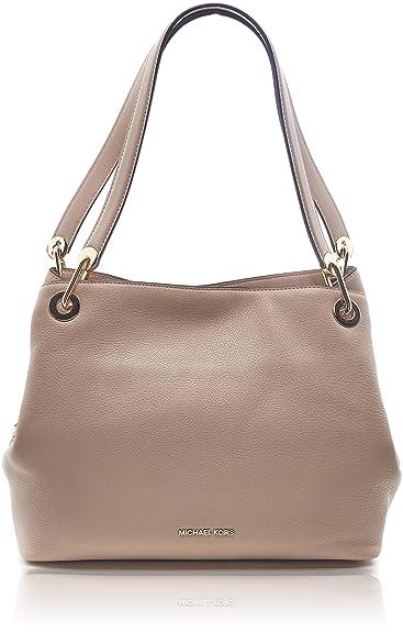 df217fca8c5f Amazon.com  Michael Kors Women s Raven Tote Bag Beige Beige (Oyster)  Shoes