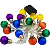 Sogrand Solar Lights,15 Colorful Bulb LED Fairy String Lights,Outdoor Garden Decorative Light Landscape Lighting for Party Patio Yard Path Decor