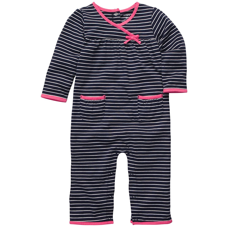 Carters Baby-girls Stripe Jumpsuit